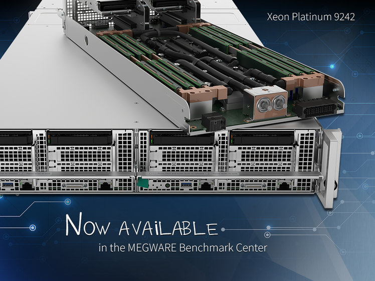 [Translate to English:] CascadeLake AP available in the MEGWARE Benchmark Center